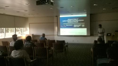 """2015年10月22日 カリフォルニア大サンディエゴ校""""Condensed Matter Physics Seminar"""""""