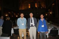 03SEP2011 左から 柳澤, H. R. Ott教授, 清水 @ケンブリッジ大学キングスカレッジ