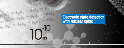 Electronic state detection with nuclear spins